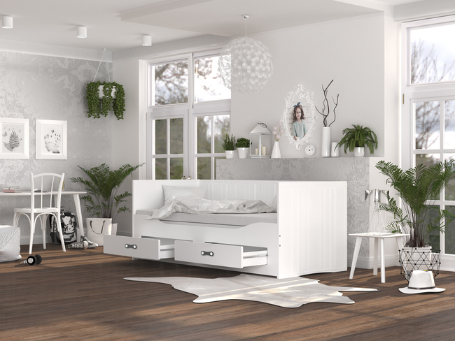 Kinderbett, Doppelbett, ausziehbares Kinderbett, Tagesbett, Kindermöbel