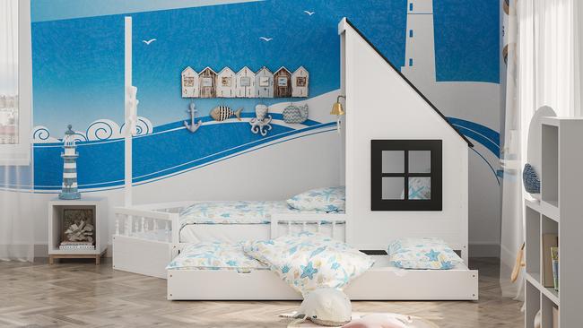 Doppelbett, Einzelbetten, Kinderbett, Kinderbetten, Kindermöbel