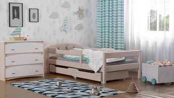 Einzelbett aus Massivholz