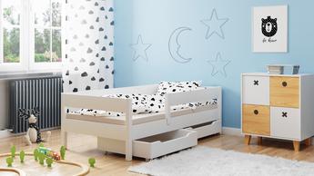 Einzelbett Miki Weiß