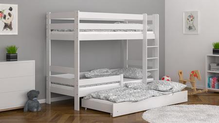 Dreibett für Kinder, Babybett, Etagenbetten für Geschwister,