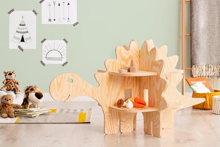 Sperrholzmöbel, Öko-Möbel, Tisch für Spielzeuge, Regal für Spielzeuge, Kindermöbel