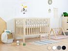 Bettchen, Kindermöbel, Kinderbett, Babybett mit eingebautem Kopfteil, hölzernes Babybett